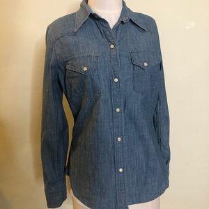 🔥Lucky Brand Denim button up shirt